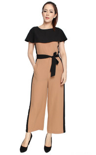Cape Jumpsuit - Taupe