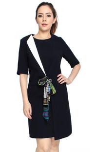 Scarf Overlap Dress
