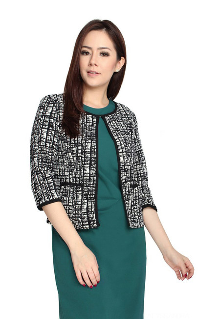 Monochrome Knit Jacket
