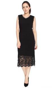 Lace Hem Midi Dress
