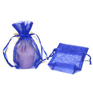 3.5 x 5 Rectangle Bottom Organza Bag w/ Satin Ribbon - 3 pcs