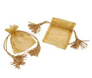 3 x 4 Organza Bag w/ Thick Tassel Hair - 6 pcs