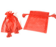 4 x 5 Organza Bag w/ Thick Tassel Hair - 6 pcs