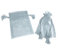 5 x 7 Organza Bag w/ Thick Tassel Hair - 6 pcs