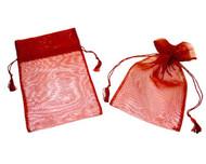 SPECIAL - 5 x 7 Organza Bag w/ Fine Tassel Hair - 6 pcs