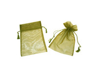 3 x 4 Organza Bag w/ Fine Tassel Hair - 12 pcs
