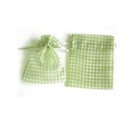 3 x 4 Gingham Organza Bag - 10 pcs