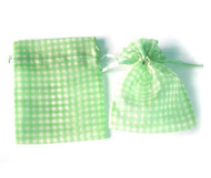 4 x 5.5 Gingham Organza Bag - 10 pcs