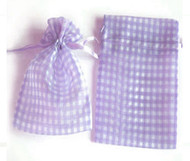 6 x 9 Gingham Organza Bag - 10 pcs