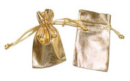 3 x 4 Metallic Lamé Bag - 12 pcs