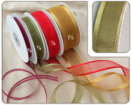 7/8 inch Organza Ribbon with Satin Edge - 25 yds