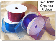 1.5 inch Two Tone Organza Ribbon - 25 yds
