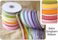 1.5 inch Satin Gingham Ribbon - 10 yds