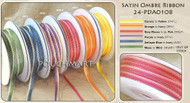 1/8 Inch Satin Ombre Ribbon - 50 yds