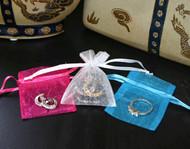 2 x 2.5 Plain Organza Bags - 10 pcs