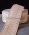 1.5 inch Ivory jute ribbon with stitching