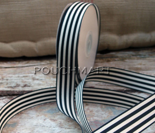 7/8 inch striped ribbon