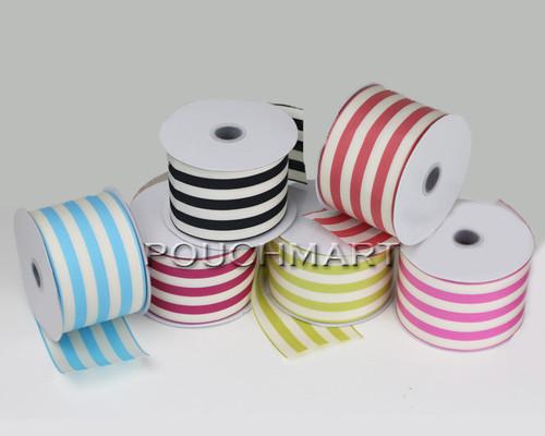 2.5 inch striped ribbon