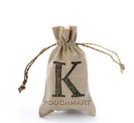 Monogram Linen Bag