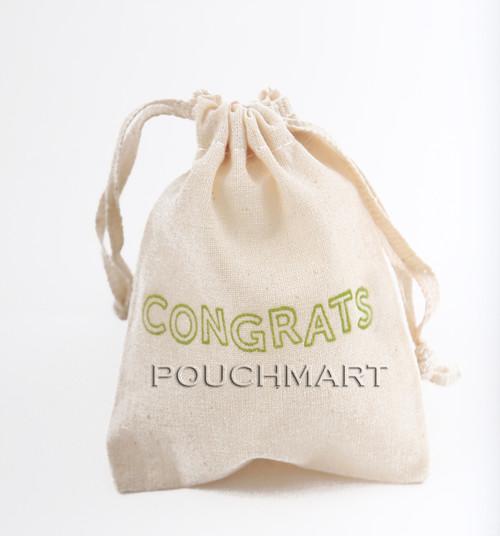 Congrats Print Canvas Bag