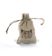 Love You Print Linen Bag