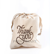 Thank You Print Canvas Bag