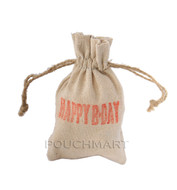 Happy BDay Print Linen Bag
