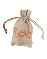 Love Print Linen Bag