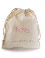 Love Print Canvas Bag