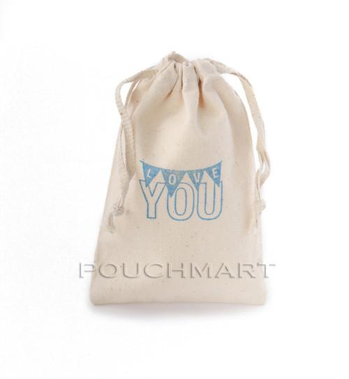 Love You Print Canvas Bag