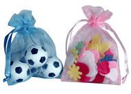4 x 5.5 Plain Organza Bags - 10 pcs