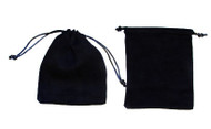 4 x 5 Black Faux Suede Bag - 10 pcs