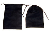 5 x 7 Black Faux Suede Bag - 10 pcs