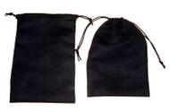 5 x 7 Black Faux Suede Bag - 10 pcs