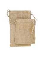 6 x 10 Natural Burlap Bag - 12 pcs