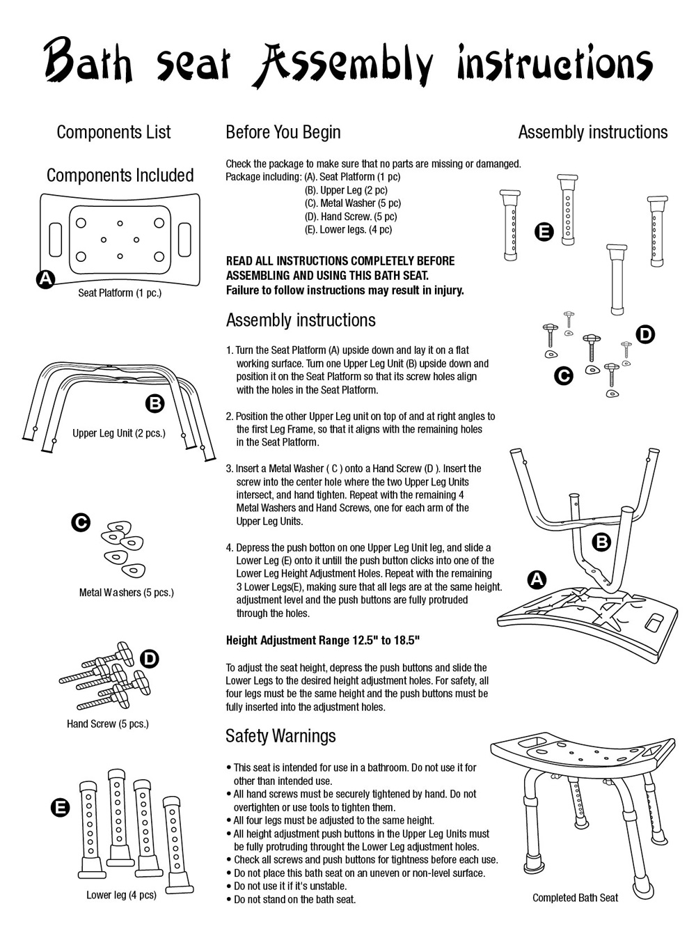 n connector assembly instructions
