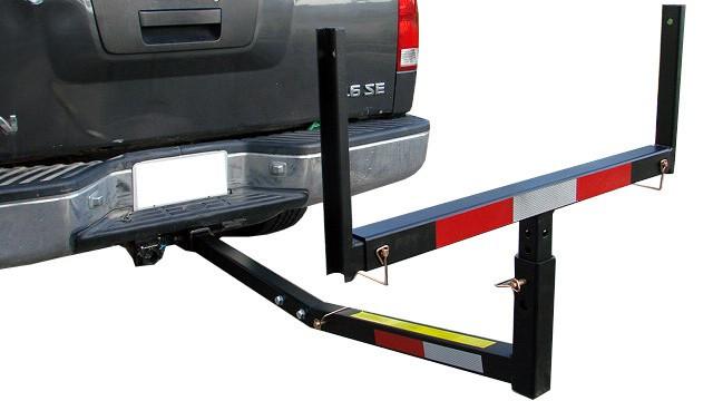 Pickup truck bed hitch extender rack ladder canoe boat t motorsports