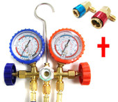 A/C Manifold Gauge R22 R404A R134A Hose with Quick Connector