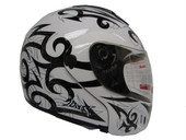 WHITE MODULAR FLIP UP FULL FACE MOTORCYCLE HELMET DOT