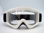 Adult WHITE GOGGLES Motocross MX Dirt Bike ATV Off-Road