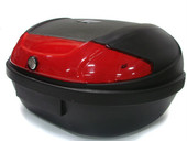 X LARGE MATTE BLACK MOTORCYCLE SCOOTER LUGGAGE TRUNK TOP CASE FITS 2 HELMETS