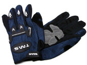 YOUTH TMS ATV MOTOCROSS MX DIRT STREET BIKE GLOVES BLUE