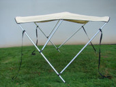 "3 BOW BIMINI TOP BOAT COVER 6'x46""x67""-72"" BEIGE w/BOOT"
