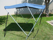 "3 BOW BIMINI TOP BOAT COVER 54""H 79-84"" NAVY BLUE +BOOT"