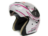 PINK BUTTERFLY MODULAR FLIP UP FULL FACE MOTORCYCLE HELMET DOT