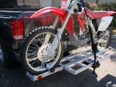 MOTORCYCLE CARRIER RACK RAMP RV TRUCK HITCH HAULER DIRT