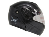 Carbon Fiber Flip Up Modular Full Face Motorcycle Helmet Street DOT APPROVED