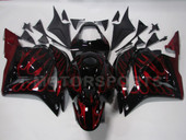 BLACK W/RED FLAME FAIRING HONDA CBR 600 RR 600RR CBR600RR 09~10 NEW