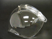 NEW FLIP UP 3-SNAP BUBBLE SHIELD VISOR VINTAGE OPEN FACE MOTORCYCLE HELMET CLEAR