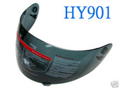MOTORCYCLE FULL FACE HELMET VISOR SHIELD SMOKED HY901